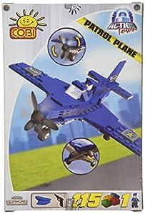 COBI Action Town - Juego de Bloques para construcción de avión de Patrulla