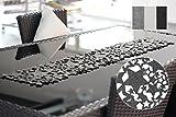 Tischläufer Sternenhimmel Tischband aus edlem Filz ca. 24x140cm abwaschbar Sterne Stars (Creme)