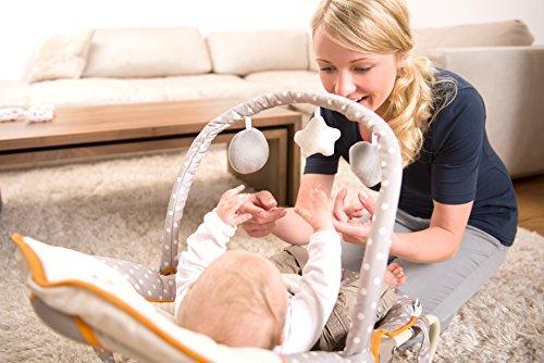 Hauck / Babywippe Bungee Deluxe / Schaukelfunktion / Spielbogen / verstellbarer Rückenlehne, Sicherheitsgurt und Tragegriffe / ab Geburt bis 9 kg verwendbar / kippsicher und tragbar, Animals (Beige)