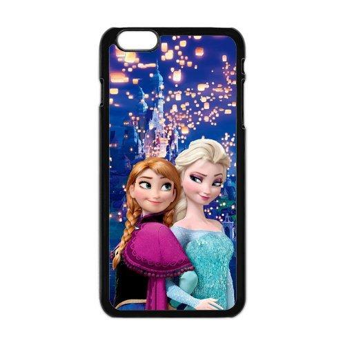 Frozen Elsa Anna Olaf Design Durable TPU Coque de protection pour Apple iPhone 6Plus, iPhone 6Plus, iPhone 6Plus 5.5Étui cover case (Blanc/Noir)