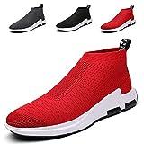 SITAILE Uomo Scarpe da Ginnastica Basse Sportive Outdoor Sneakers,rosso,42