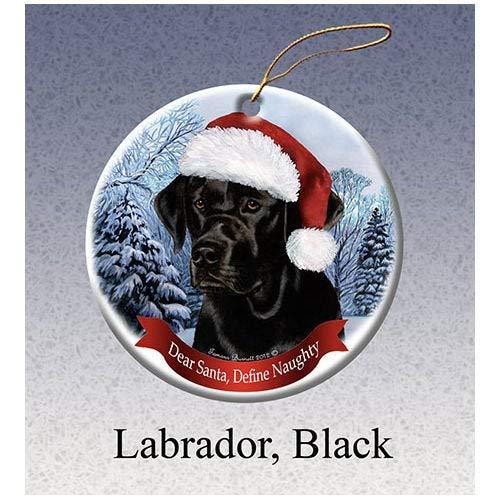 Montrwie Labrador Retriever schwarzer Howlililiday, Porzellan Weihnachten Ornament -