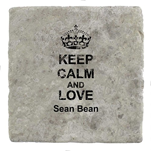 Keep Calm and Love Sean Bean – Marble Tile Drink Untersetzer