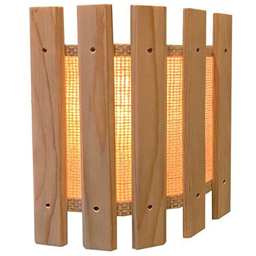 Weigand Blendschirm mit Stoffbespannung mit verschraubten Lamellen I Lampenschirm I Sauna I Saunazubehör