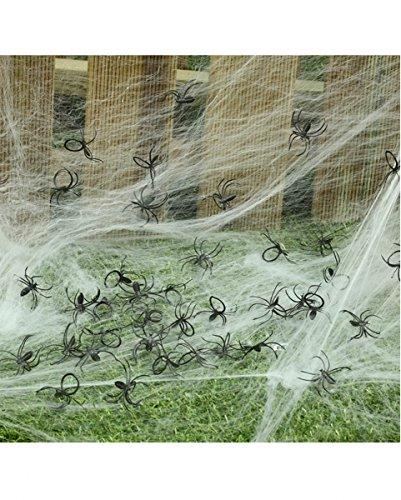 Schwarze Mini Spinnen im Beutel 50 St. für gruselige Halloween Dekorationen
