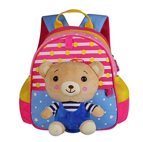 Preisvergleich Produktbild Cute Animals Form Kinder Rucksack für die Schule Wandern Camping Bear Pink