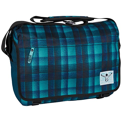 Chiemsee Umhängetasche Shoulderbag Large, Checky Chan Blue, 39 x 12 x 29.5 cm, 13 Liter, 5021015