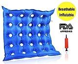 Premium Air Sitzkissen, aufblasbar, hitzeversiegelte Konstruktion für durabilityd Kissen für Rad Stuhl und Tag zu Tag Gebrauch ideal für langes Sitzen, FDA genehmigt