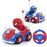Jouet de Voiture, Spiderman Marvel Voiture de contrôle à Distance sans Fil Hors Route modèle de Course Jouet