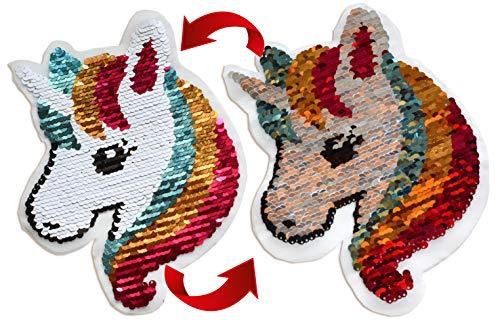 Aufnäher Patches Wende Pailletten Farbe ändern Pailletten Ändern Farbe Wende-Pailletten (Einhorn Wendepailetten)