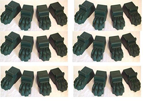 6-x-sets-of-green-plastic-lions-feet-plant-pot-feet-set-of-4-feet-per-set