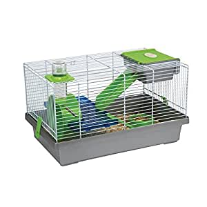 Cage grise Nicky Flamingo pour Hamsters
