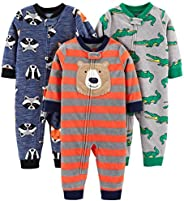 Simple Joys by Carter's 3-Pack Loose Fit Flame Resistant Fleece Footless Pajamas Bambino, Pacco