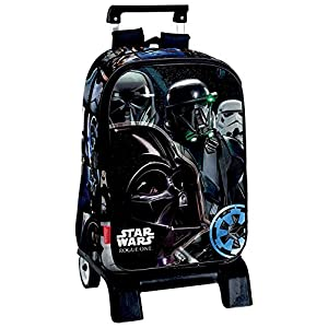 51UH4ZvZX7L. SS300  - Montichelvo Star Wars Rogue One Carro Mochila Infantil, 41 cm, Negro