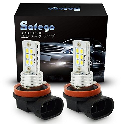 Safego COPPIA H11 LED Fendinebbia Lampada Xenon Bianco DC LED H8 Nebbia Faro AUTO Lampadina Super Luminosa Con 12-2835SMD Chip 6000K