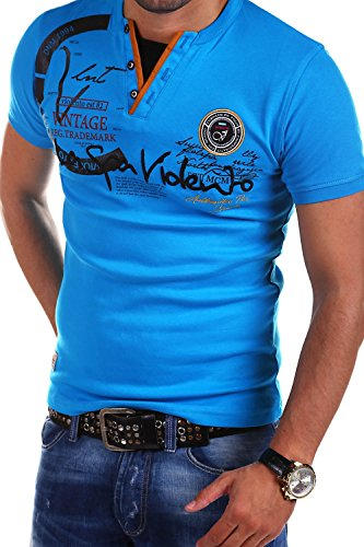 MT Styles 2in1 T-Shirt DEL MUNDO R-2611 [Blau, 4XL]