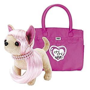 chi chi LOVE - Peluche con Bolso, Color Rosa Oscuro (Simba)
