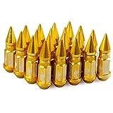 Alian Set 20 Schrauben für Autoreifen – 20 Stück 12 x 1,25/12 x 1,5 cm Zubehör für Autoteile 20 Radmuttern Or M12x1.25