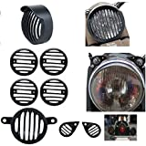 Generic Unbranded Headlight Heavy Grill with Cap and Indicator