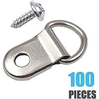 comdox D anillo imagen perchas 100-Pack Heavy Duty con tornillos