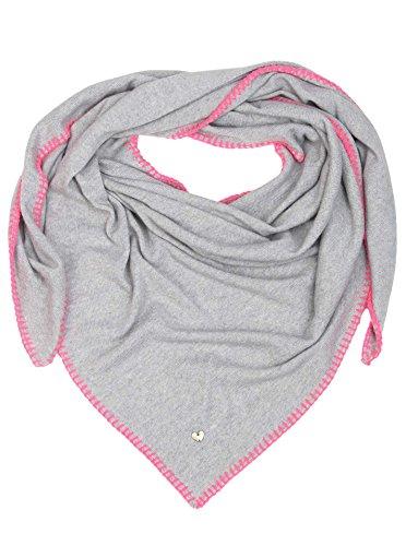 Dreieckstuch mit Kaschmir - Hochwertiger Schal mit Heckelrand für Damen Jungen Mädchen - XXL Hals-Tuch und Damenschal - Strick-Waren für Sommer Herbst Winter von Zwillingsherz - 150cm x 120cm - hgr