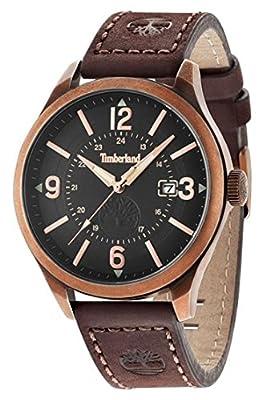 Timberland Blake de los hombres del cuarzo de reloj con esfera de color Beige y marrón de la correa de cuero tbl.14645jsqr/02 de Timberland