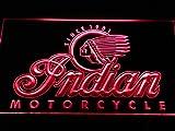 Indian Motorcycle Services LED Zeichen Werbung Neonschild Rot