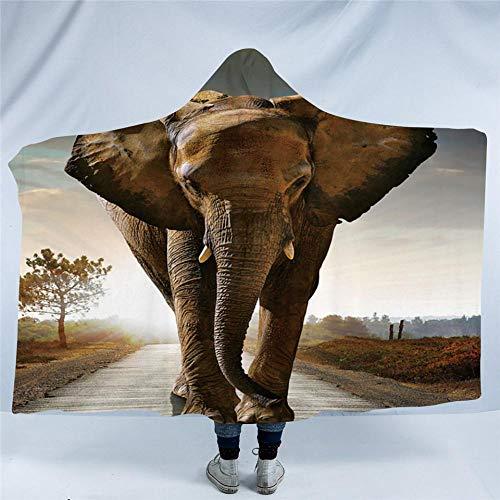 HGTZ Manta con Capucha de la colección de Elefantes Indios para Adultos...