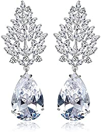 Peora Silver Plated Genuine AAA Swiss Zircon Drops & Danglers Earring For Women Girls