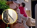 Möbel & TV Sicherheitsgurte von 2 Pack (alle Metallteile, kein Plastik, schwere dauerhafte Anker,) Verstellbare Sicherheitsgurte für Baby Proofing und Kindersicherheit
