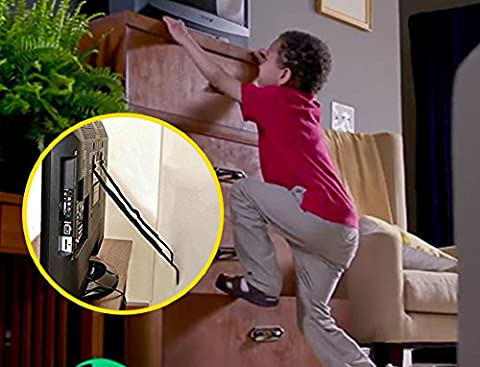Möbel & TV Sicherheitsgurte von 2 Pack (alle Metallteile, kein