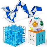 Fidget Cubes Rompicapo Giocattoli rompicapo, Cubo velocità 3x3, Palla Puzzle Arcobaleno, Scatola del Labirinto di Denaro, Cubo di Serpente Fidget IQ Giochi Regalo di Favore della Festa di Natale
