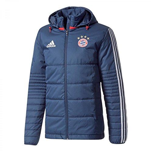 adidas Herren Winterjacke FC Bayern München, Conavy/White, XS
