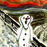 Pack of 10 Shelter & Crisis Charity Christmas Cards - Scary Snowman