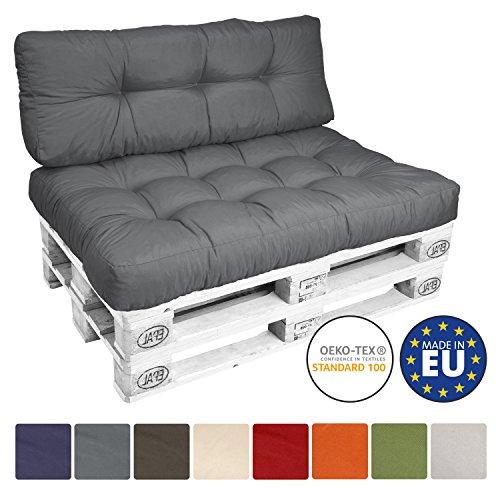 Beautissu ECO Style Coussins pour Canape Euro Palette - Dossiers - 120x40x15 cm -...