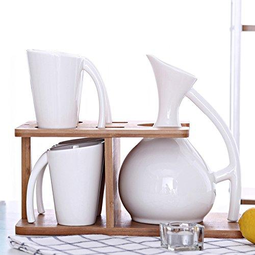 FAN4ZAMEHome Keramik Kaffeetasse Setafternoon Cup Sets Von Combinationsceramic Wasser Entsprechen Europäischen Kaffee Tasse Kaltes Wasser Topf Kreative Haushalt Kanne Thermal Mug Tasse Einstellen (Kaffee Topf Kostüm)