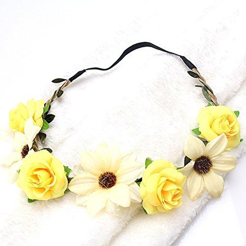 Manyo Boho Style Floral Blume Frauen Mädchen Hairband Stirnband Hochzeit Festival Party (2)