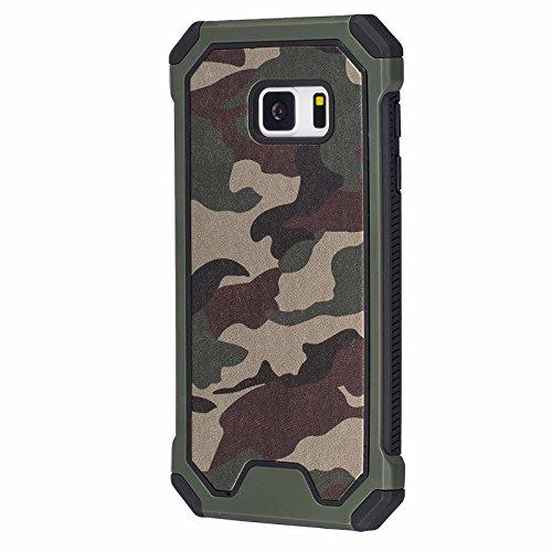 Samsung Galaxy S7 G930 Handy Tasche Outdoor Case TPU Hybrid Camouflage Schutz Hülle Bag Grün