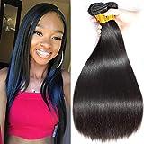 FZY Capelli Umani Lisci Estensione Capelli Brasilian Hair Extensions 300g Capelli Lisci Naturali 100% Veri Human Hair (14 16 18 INCH)