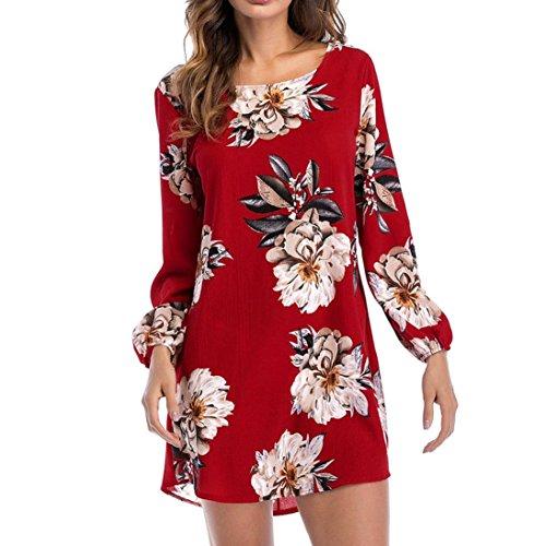 ❤️ 50er Vintage Retro Kleid , ❤️ Damen Party Club Kleider Pinup Vintage Bodycon Kleid | ❤️ Schulter Faltenrock | Damen AbendKleid Maxikleid | Kleidung Unter 10 Euro | Sommerkleid (L, Rot) (Pailletten Unter $10)