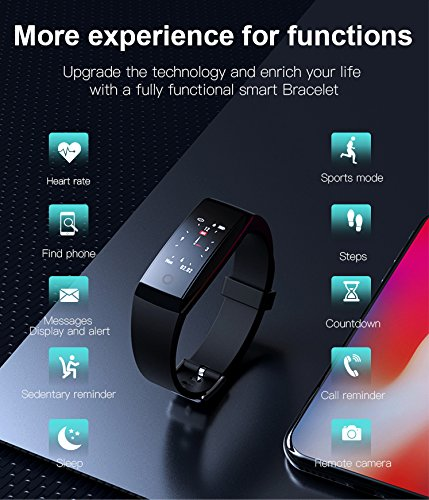Futureway Fitness Tracker096 OLED Colorful Display SmartWatch With Heart Rate Monitor Tracker Smart Bracelet Activity Tracker Smart Watch Wristband Bracelet Bluetooth Pedometer With Sleep Monitor