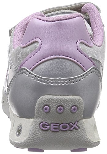 Geox Jr New Jocker A, Baskets Basses fille Argent (C1316)