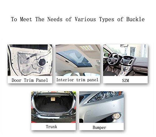 FEZZ 350pcs Clips Agrafe Plastique Rivets Garnissages Pare-chocs Panneaux de Portes Auto Voiture Universel avec Boîte De Rangement