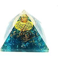 Crocon blau Onyx Chakra Balancing Energetische Pyramide mit Kristall Punkt Blume des Lebens Symbol Reiki heilende... preisvergleich bei billige-tabletten.eu