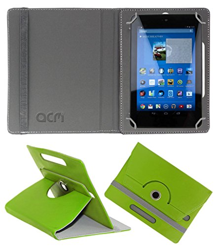 Acm Rotating 360° Leather Flip Case for Dell Venue 7 3740 Cover Stand Green  available at amazon for Rs.149