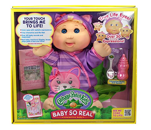 Cabbage Patch Kids 14 Baby So Real Blonde by Cabbage Patch Kids