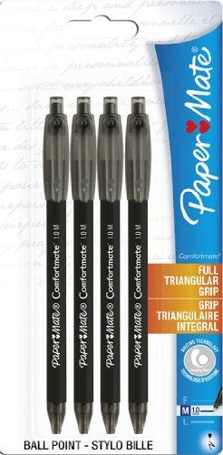 papermate-s0512311-comfortmate-ultra-retractable-ballpoint-pen-medium-tip-10-mm-black-pack-of-4