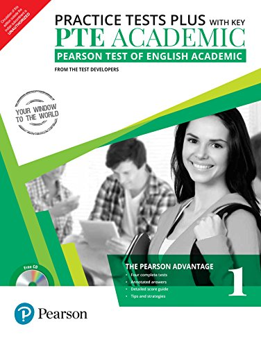 PTE Academic Practice Tests Plus (with key) by Pearson : Pearson Test of English Academic