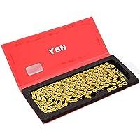 YBN 12-Gang Kette 126 Glieder mit Power Lock wie SRAM PC-XX1 Eagle Gold #ST1449