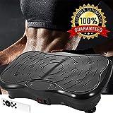 Bunao 3D Fitness avec Plateforme de Vibration, 2 Moteurs Matériel d'exercice pour la Maison,Plaque vibrante,...